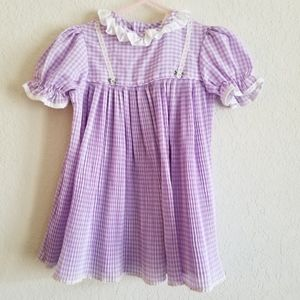 Vintage Purple Pleated JCPenney Toddle Time Dress